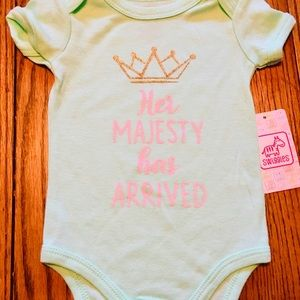 "🍼BNWT Baby Girl Onesie ""Her Majesty has Arrived"""